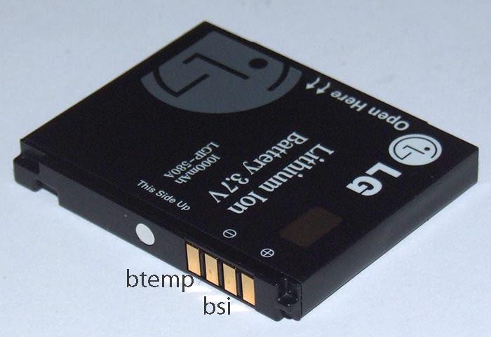 LG KU990 km990 battery pinout