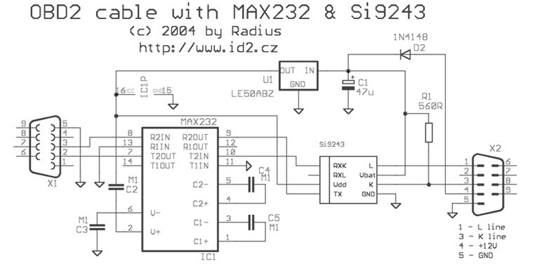 кабель схема 2 obd